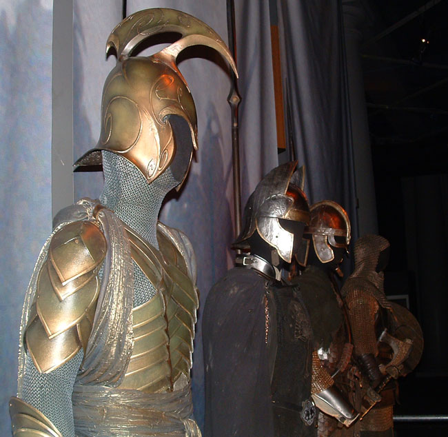 Armour from the Lord of the Rings movies