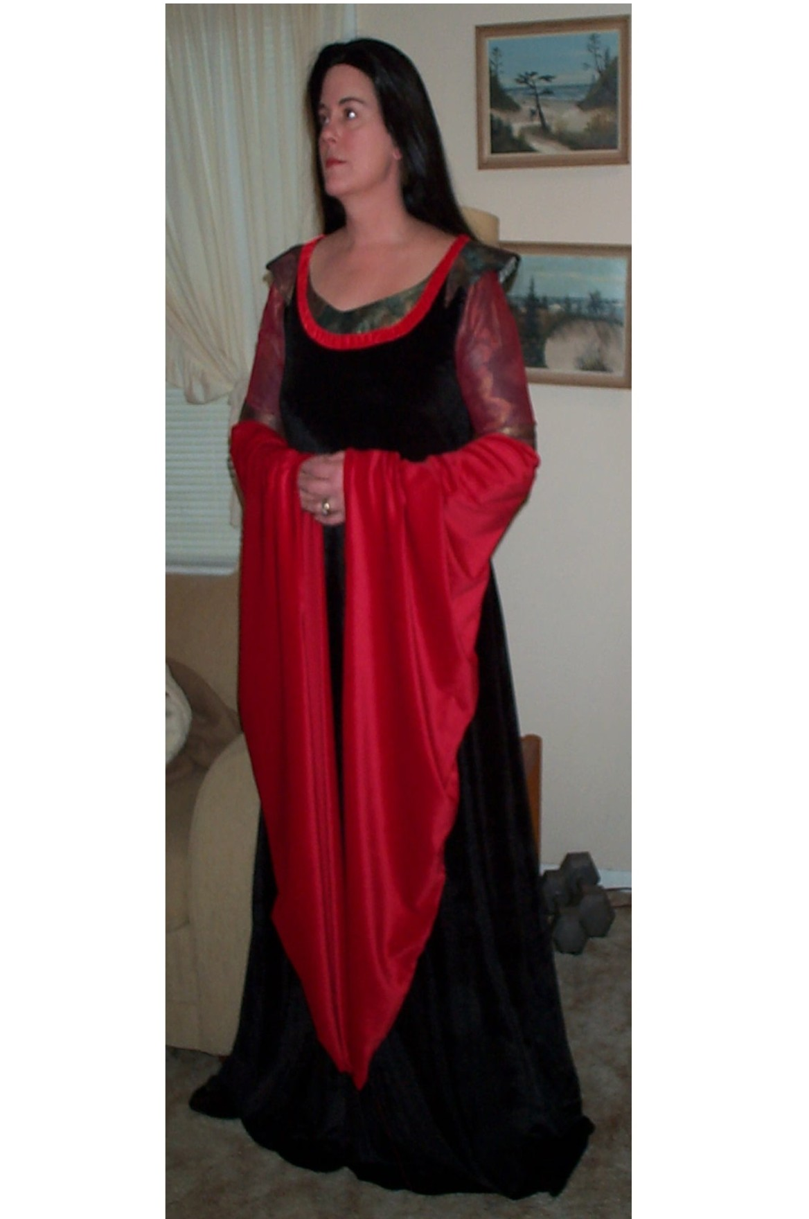 Arwen Dress Costume Arwen's Blood Red Dress